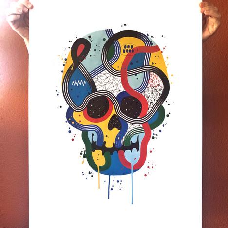 """""""Calavera de colores 16"""""""