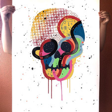 """""""Calavera de colores 14"""""""