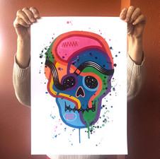 """""""Calavera de colores 17"""""""