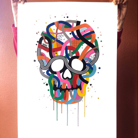 """""""Calavera de colores 6"""""""