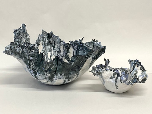 Stoneware sculptural forms