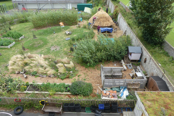 School garden just finishing the roundho