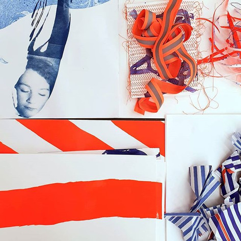 Works on paper and details of work on th