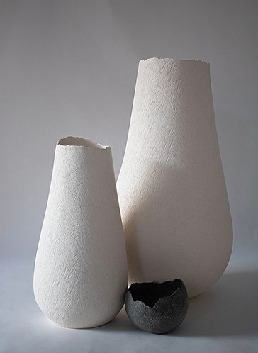 Stoneware forms coloured with body stains and oxides