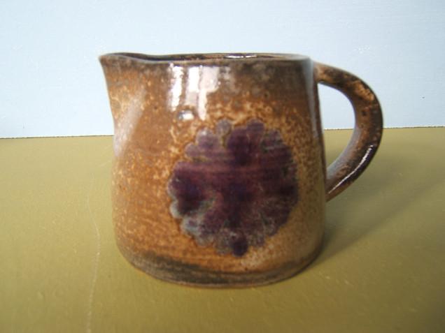 GD Stoneware thrown jug Shino glaze.JPG
