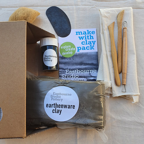 Earthenware make with clay pack