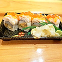 Crystal Roll(Red Shrimp Scalop and Salon Roe)