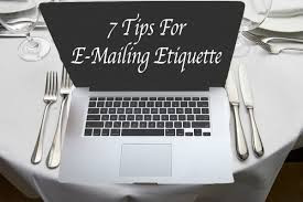 SevenTips for E-Mail Etiquette