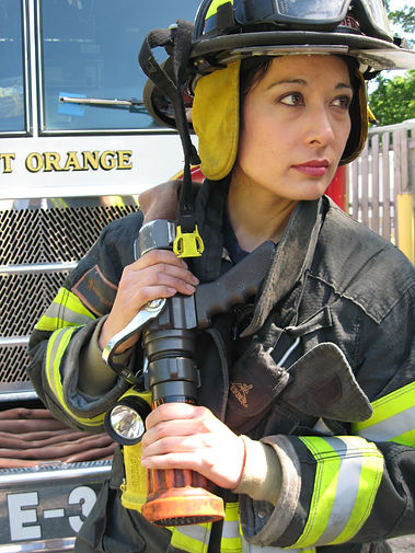 Pro Figure Skater and Firefighter, Heidi Vanderhoof  is Captain of the West Orange, NJ Fire Department and a professional figure skater and coach at Codey Arena.  She also is Director of the Essex Special Skaters.