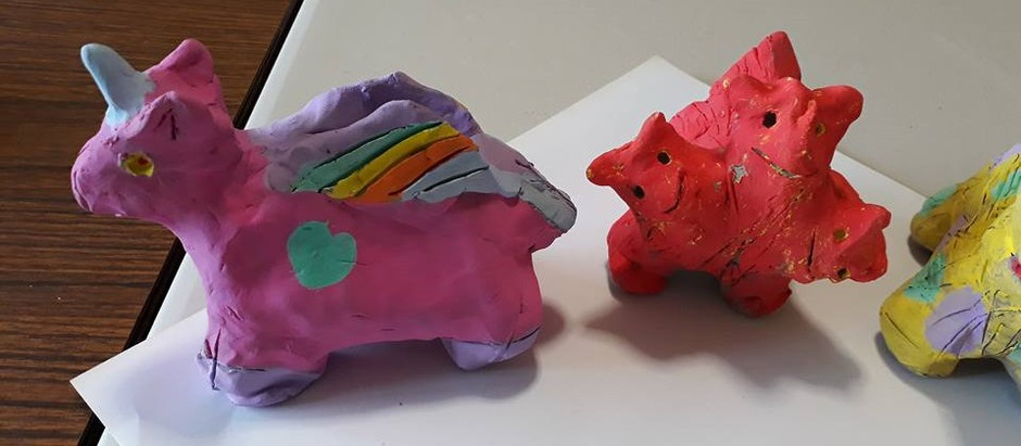 Clay Mythological Animals from The Island Residential Home
