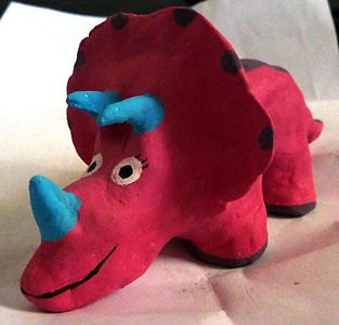 clay triceratops