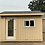 Thumbnail: 8x12 COURTYARD STYLE SHED