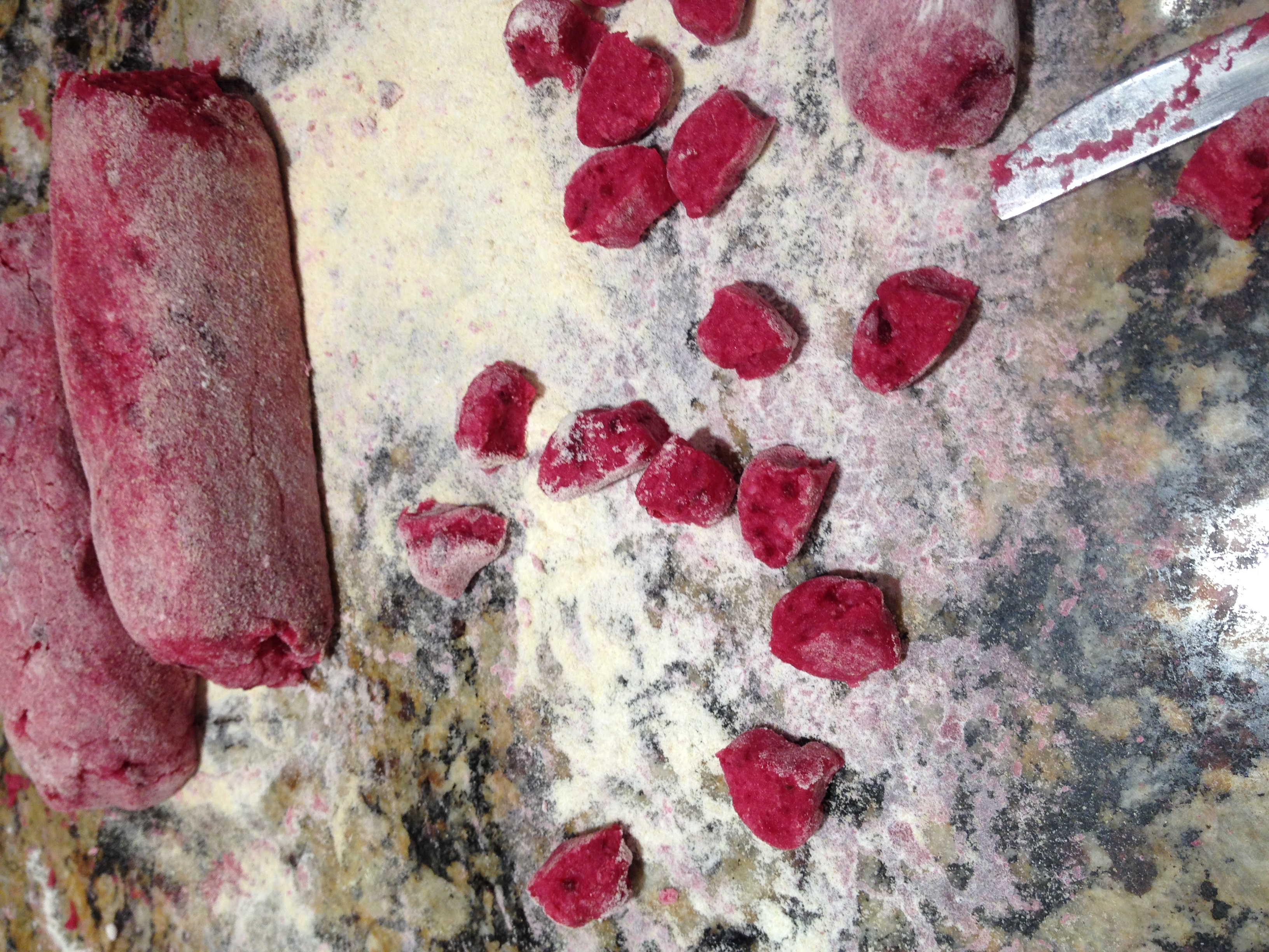 Beet and Potato Gnocchi