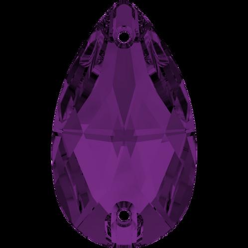Swarvoski 3230 Sew on Pear-Blue and Purple
