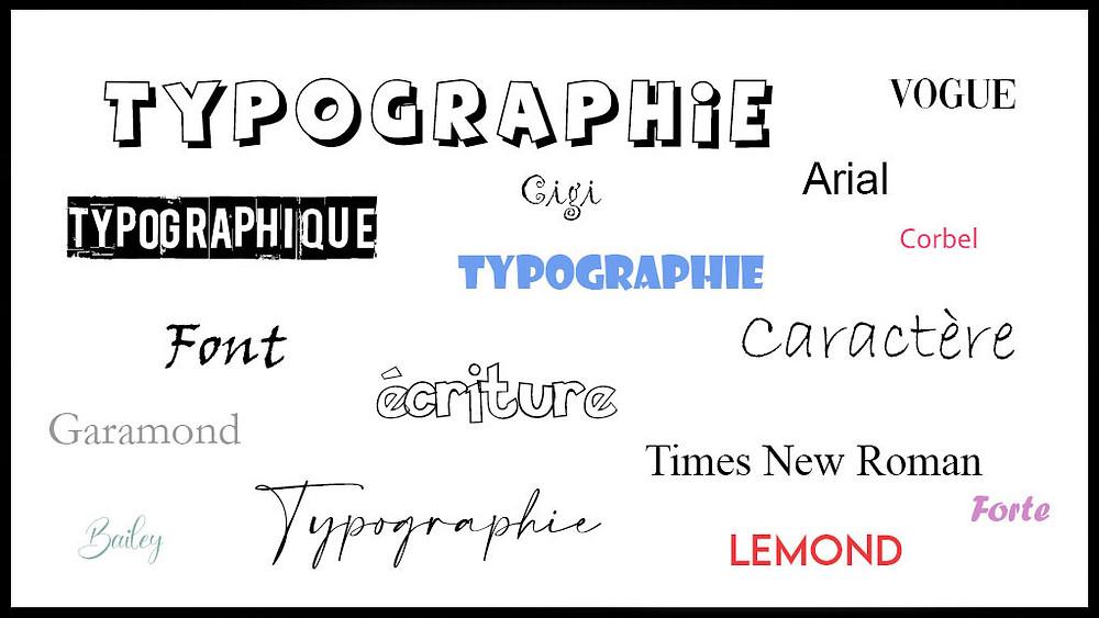 Lettres Typographique