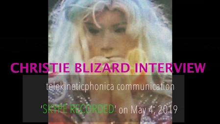 Joey Huertas interviews artist Christie Blizard.