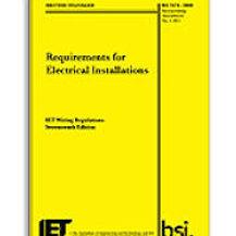 NICEIC 17th Edition Amd 3, wiring Regs