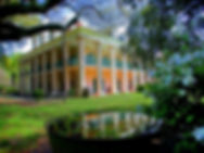 plantation, oak tree, reflection, Houmas, Lousiana house