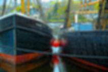 fishing boats, Mystic seaport