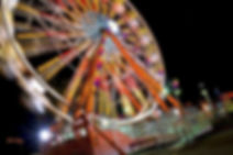 ferris wheel, neon light, movement