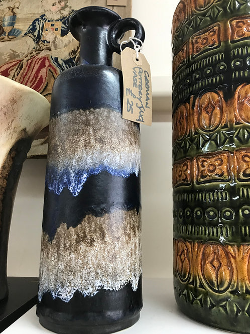 West German pottery vase/ jug