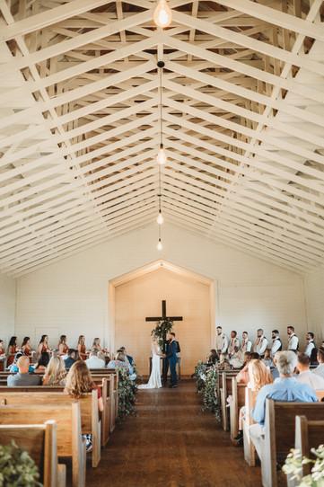 wedding day church photo