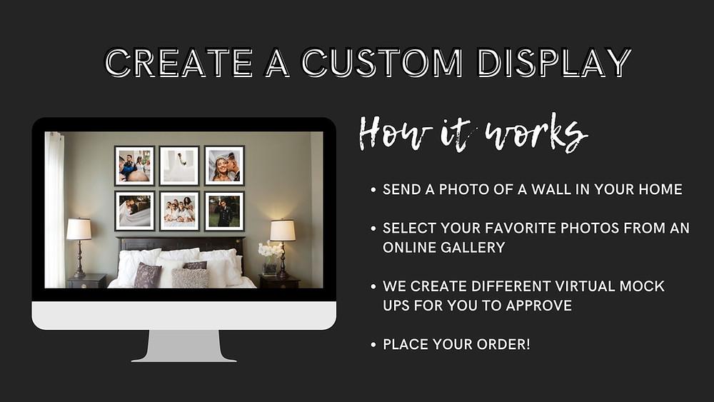 creat a custom display wall art