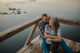 engagement lake photo