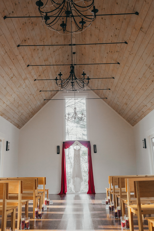 beautiful wood ceiling chapel