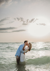 engagement photo at the beach