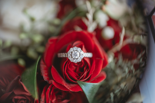 wedding ring in a rose