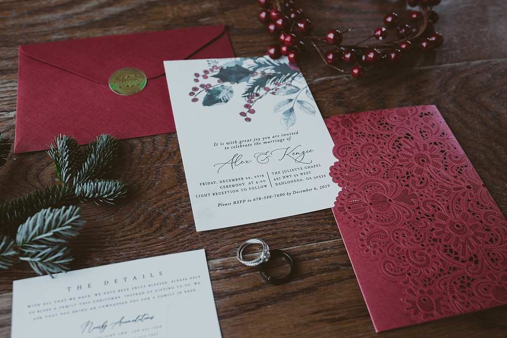 wedding save the dates and wedding rings