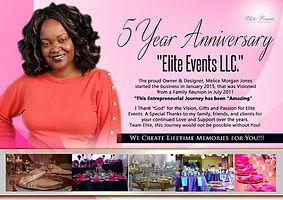 Elite Events - 5 Year Anniversary - Jan