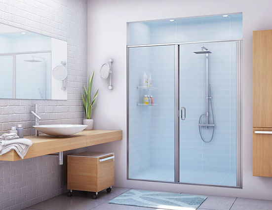 Clean Bathroom with Glass Shower