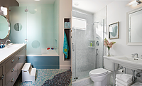 Shower Doors vs. Shower Curtains