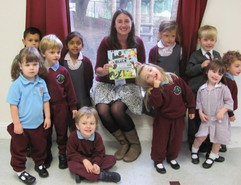 Meeting the younger children at Duncombe school