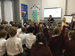 A writing workshop with KS2 at Duncombe School