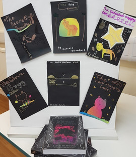 At Colchester Library, covers and story ideas inspired by 'The Midnight Unicorn'