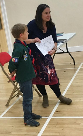 Sharing some work at St Michael's Cubs