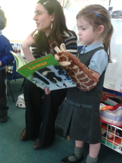 At Brookland School, Cheshunt, with the nursery 