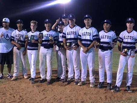 Jr High Dawgs Baseball Wins Summer League