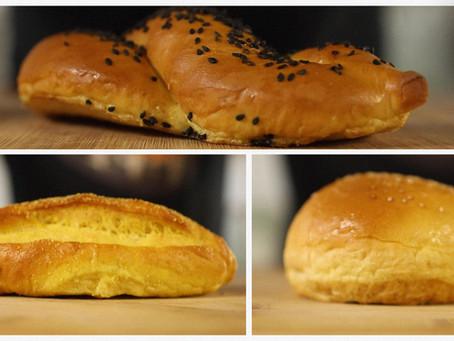 3 recetas de pan para sándwiches con la misma masa