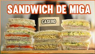 Cómo hacer sándwiches de miga caseros
