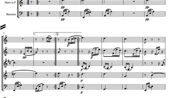 Beethoven: Für Elise (For Elise) WoO 59 - wind quintet