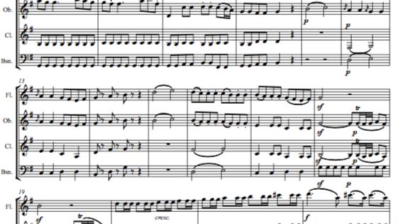 """Mozart: Serenade No.13 in G """"Eine Klein Nachtmusik"""" K.525 Mvt.I - wind quartet"""