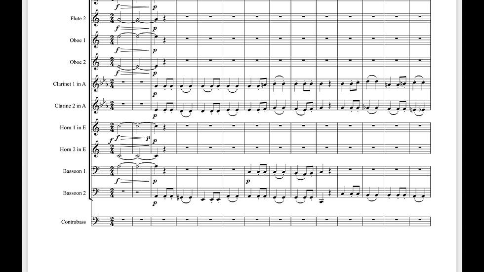 Beethoven: Symphony No.7 Op.92 Mvt.2 Allegretto - wind dectet