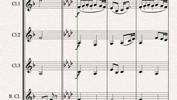 Dvorak: Humoresque (Humoresken) No.7 Op.101 . - clarinet quartet