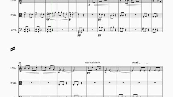 Bartók: 10 Easy Pieces, Sz.39  3.Slovakian Boys' Dance - string trio