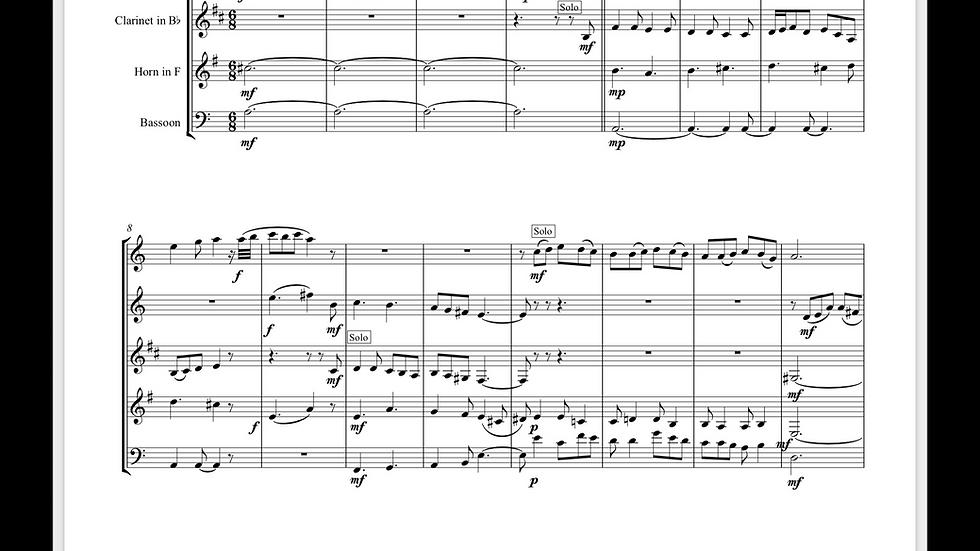 Warlock: Tyrley, Tyrlow - wind quintet