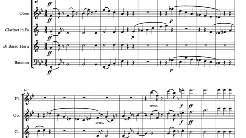 Beethoven: Symphony No.4 Mvt III Scherzo - wind quintet